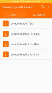 Beauty Tips with Lemon screenshot 2