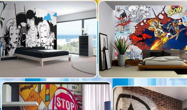 Bedroom graffiti design screenshot 1