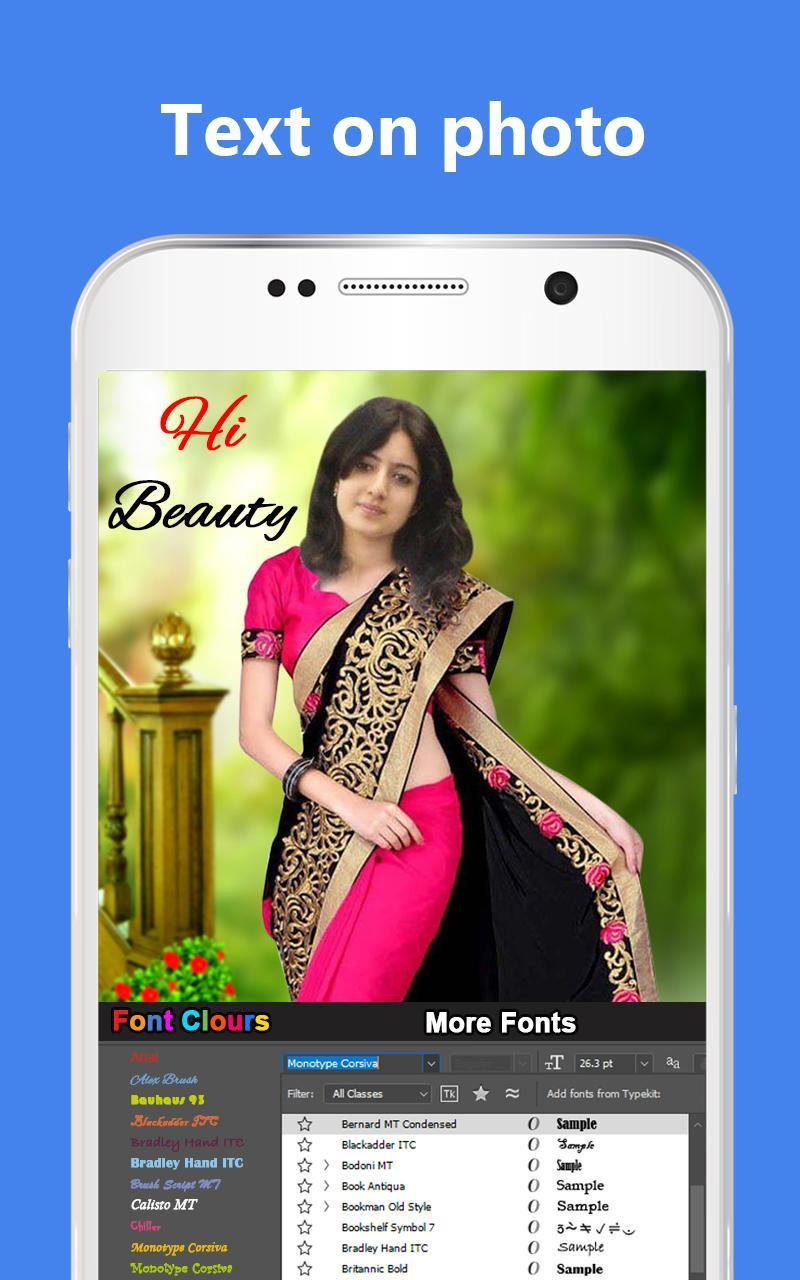 Woman Fancy Saree Photo Suit Editor -Photo Montage for