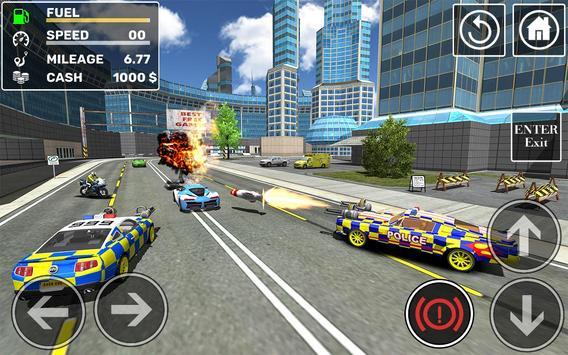 Police Cop Car Simulator : City Missions screenshot 21