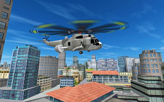 City Helicopter Flight poster