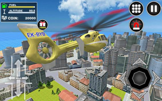 City Helicopter Flight screenshot 1