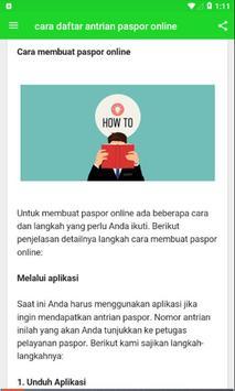 Cara Daftar Antrian Paspor Online screenshot 4