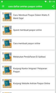 Cara Daftar Antrian Paspor Online screenshot 1