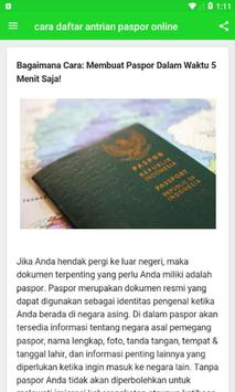 Cara Daftar Antrian Paspor Online screenshot 2