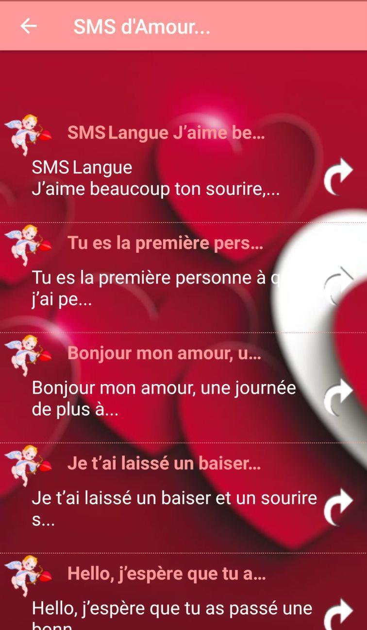 Sms Damour En Français Saint Valentin For Android Apk