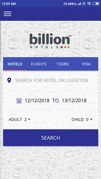 Billion Hotels - Flight, Holiday ,Tour Packages poster