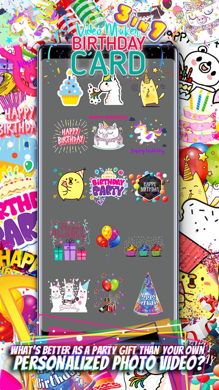 birthday card video maker slideshow collage gif for
