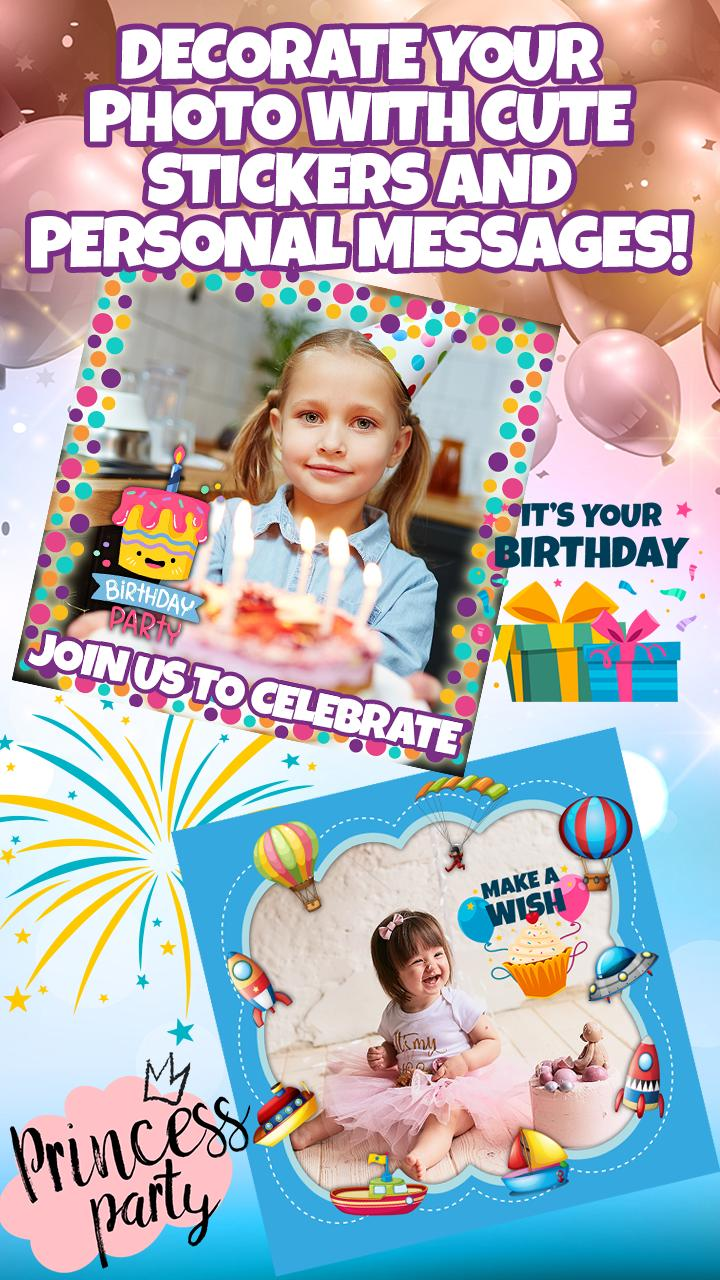 Birthday Party Invitation Card Maker With Photo For Android