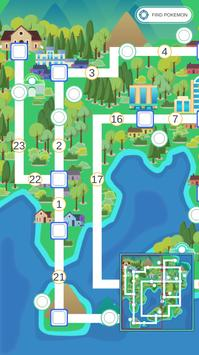 Kanto Guide - Map and services poster