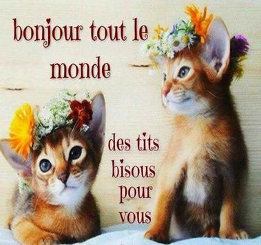 Bonne journée Bonjour Image avec Mots et Proverbes poster