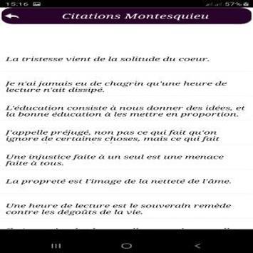 Citations de Montesquieu screenshot 1
