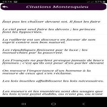 Citations de Montesquieu screenshot 2