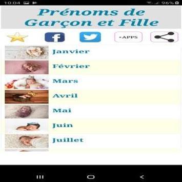 Calendrier Prenoms.Prenoms Du Calendrier Et Leurs Significations For Android