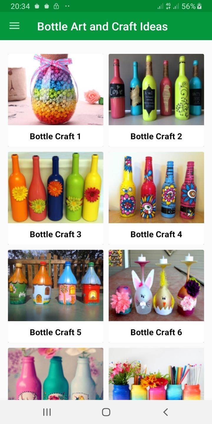 All Bottle Art And Craft Ideas For Android Apk Download Bottle art with thread, glass bottle painting with rice, decoupage and much more. all bottle art and craft ideas for