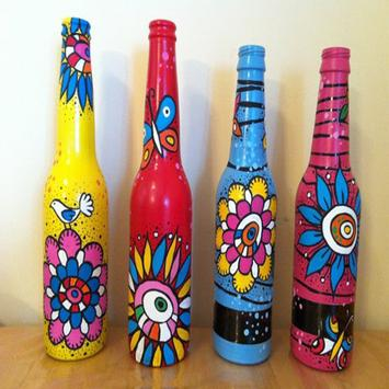 Bottle Painting Designs poster