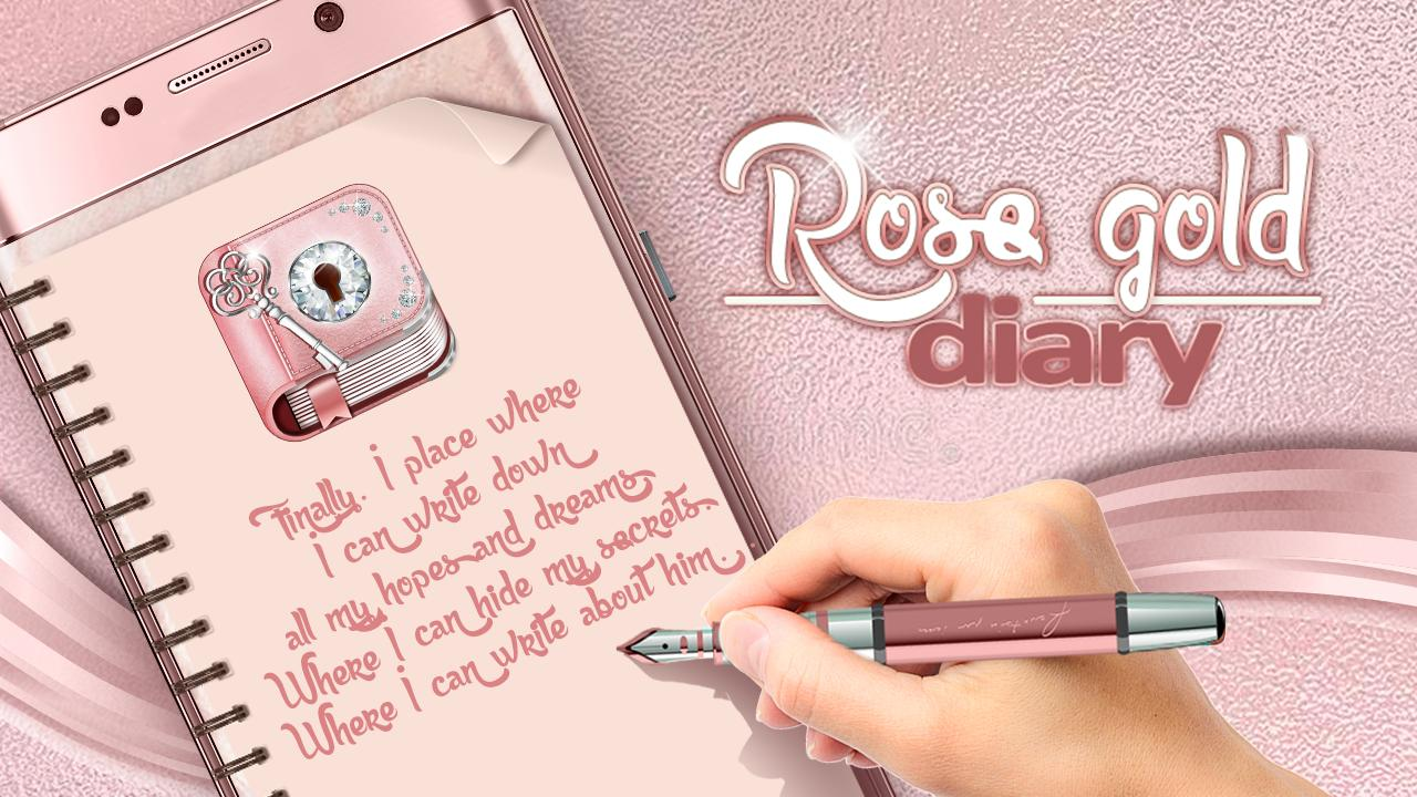 Cute Rose Gold Diary App for Android - APK Download