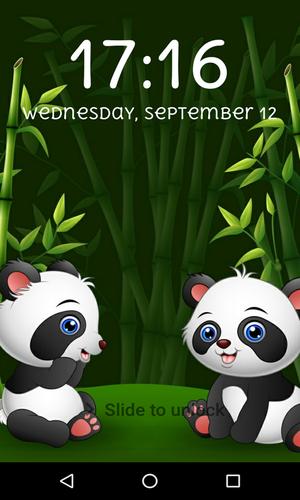 Panda Lock Screen Cute Panda Wallpaper Apk 4 09 Download For