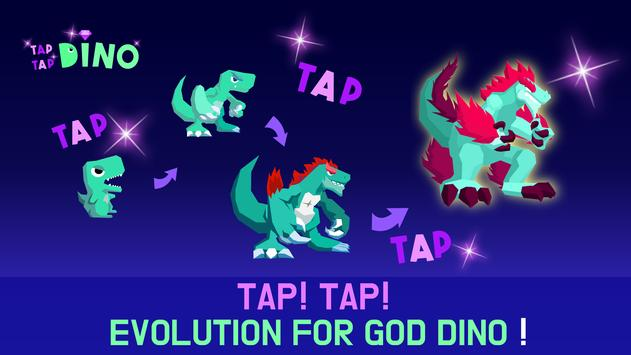 Tap Tap Dino : Grow my dino ( Idle & Clicker RPG ) poster