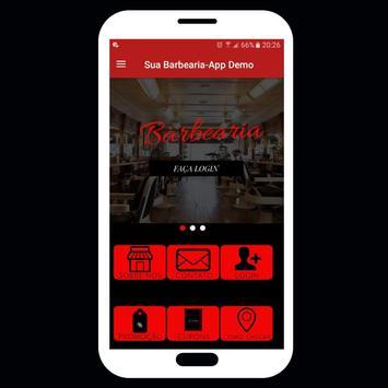 Barbearia online-Agendar horário pelo App (Demo) poster
