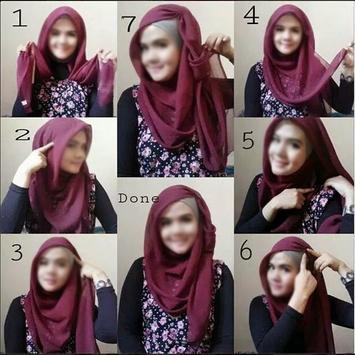 70 CaraMemakai Jilbab Segi Empat screenshot 8