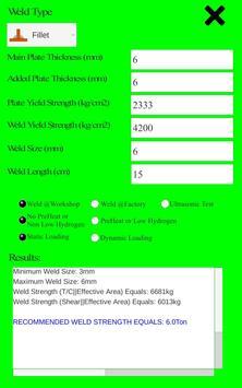 Structural Weld Calculator screenshot 1