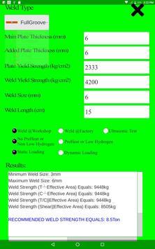 Structural Weld Calculator screenshot 2