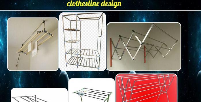 clothesline design poster