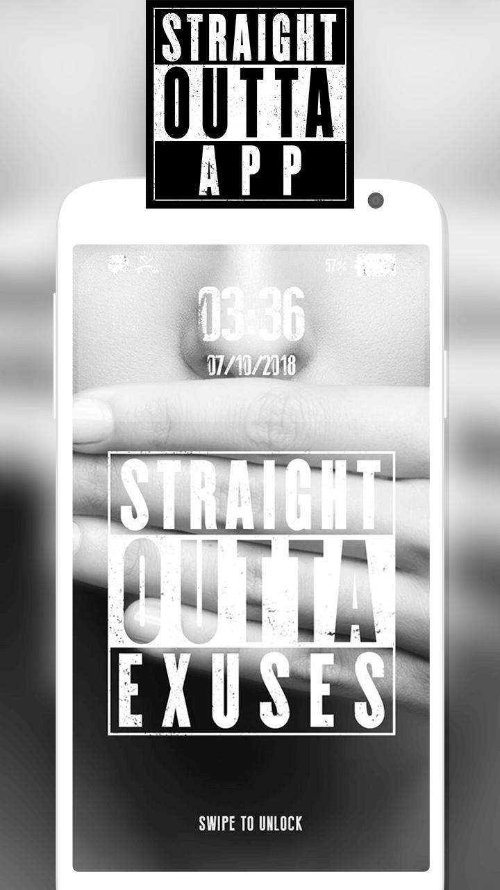 Straight Outta App - Cool Lock Screen Wallpaper for Android