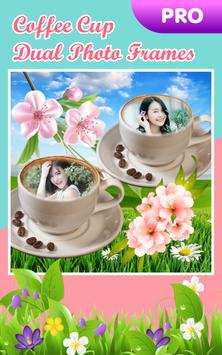 Coffee Cup Dual Photo Frames poster