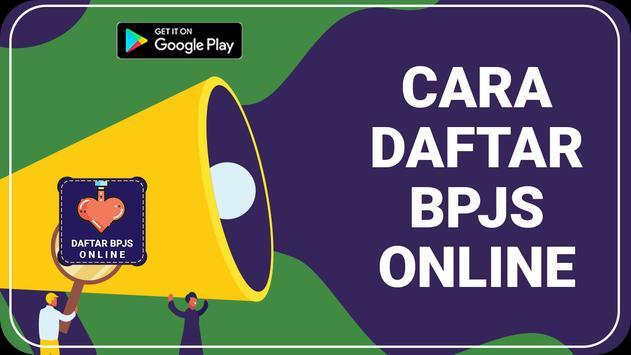 CARA DAFTAR BPJS ONLINE poster