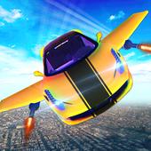 Futuristic Flying Car Taxi Simulator Driving icon