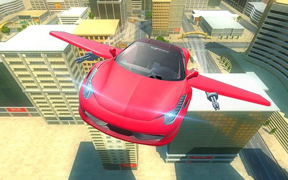 Futuristic Flying Car Taxi Simulator Driving poster