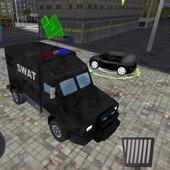SWAT Police Car Driver 3D icon