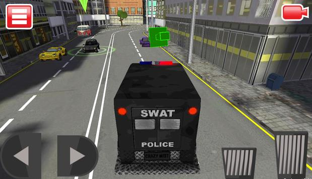 SWAT Police Car Driver 3D screenshot 5