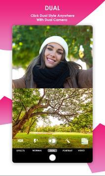 Dual Camera Sweet Selfie Filters: DSLR Beauty Cam screenshot 1
