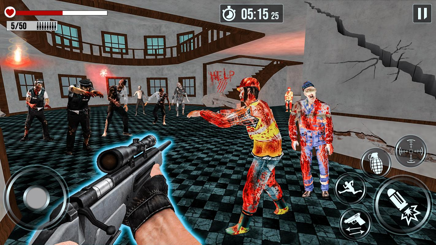 Into The Zombie Dead Land: Zombie Shooting Games screenshot 2