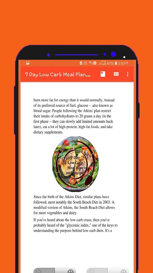 7 Day Low Carb Meal Plan And Recipes For Android Apk Download