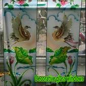 Decorative glass windows icon
