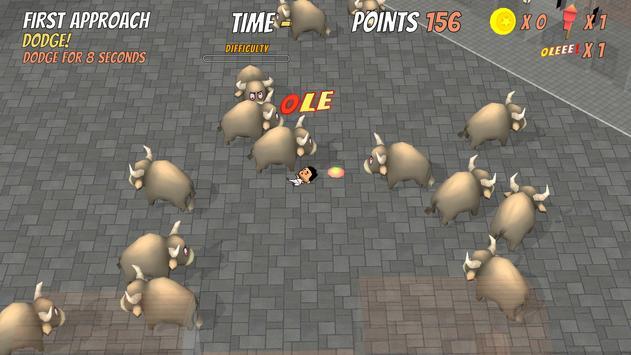 Bull Dodgers - Free Bull Running Game screenshot 1