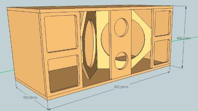 Full Bass Speaker Box Design screenshot 5