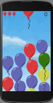 Burst balloon poster