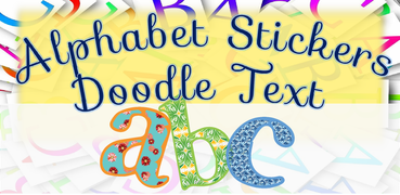 Alphabet stickers for Doodle Text!