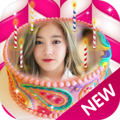 Photo On Birthday Cake App icon