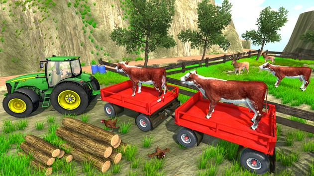 Tractor Trolley Cargo Farming Simulator 2019 Game poster