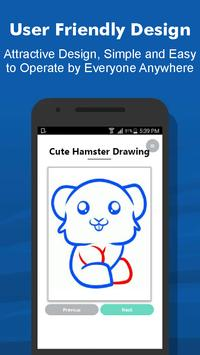 How to Draw 40+ Cute Hamster Step by Step Offline screenshot 2