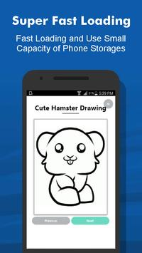How to Draw 40+ Cute Hamster Step by Step Offline screenshot 3