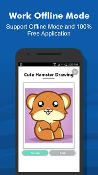 How to Draw 40+ Cute Hamster Step by Step Offline screenshot 4
