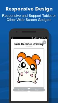How to Draw 40+ Cute Hamster Step by Step Offline screenshot 6