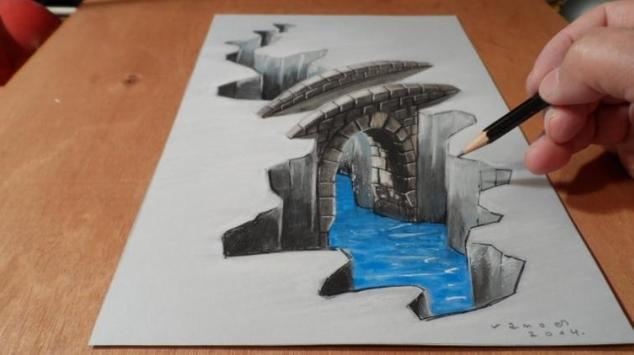 Drawing 3D Art poster
